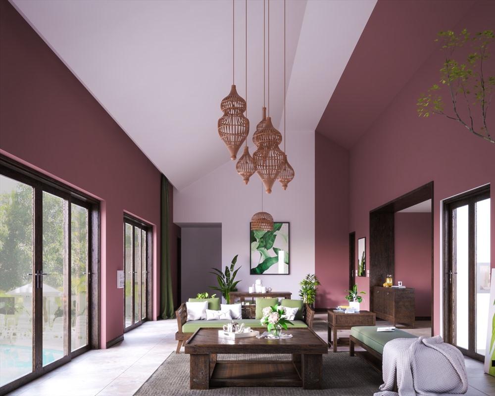 Theo thiết kế không gian nhà đẹp, màu hồng, màu đỏ, màu tím đại diện cho lửa là những gam màu hợp bản mệnh Hỏa