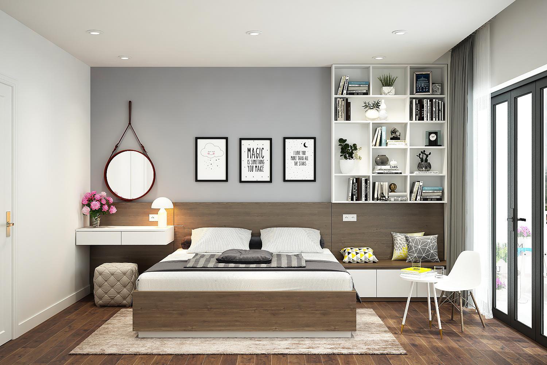 Tận dụng đồ nội thất thiết kế thông minh và nguồn sáng cho phòng ngủ