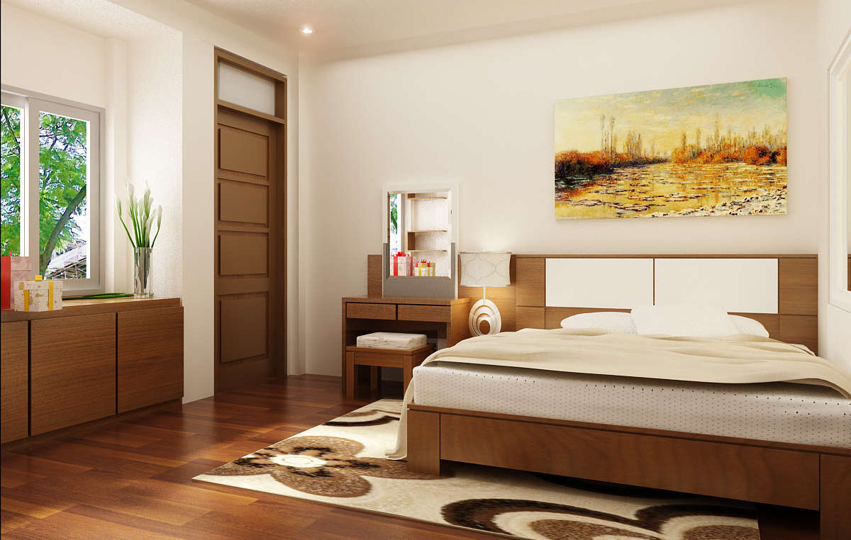 Thiết kế phòng ngủ có diện tích 16m2 được xem là mẫu thiết kế nhà ống hiện đại ở nông thôn