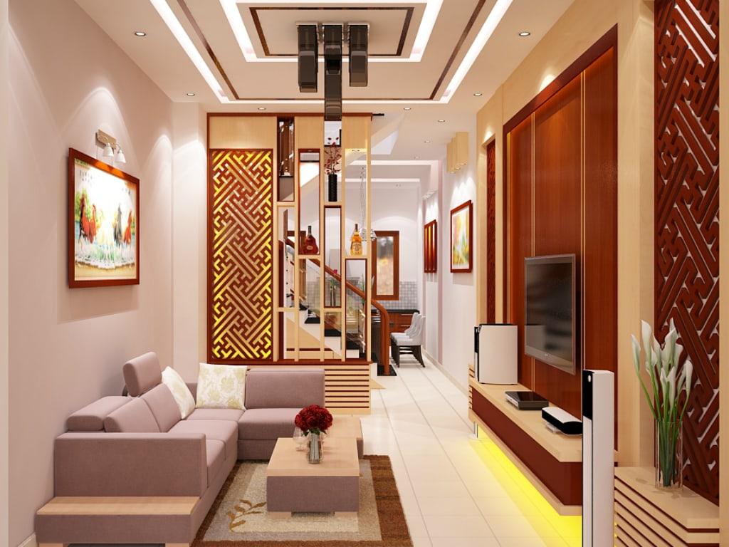 """ới thiết kế """"nửa kín, nửa hở"""" này, không gian nhà đẹp trông thật thú vị, gợi sự khám phá"""