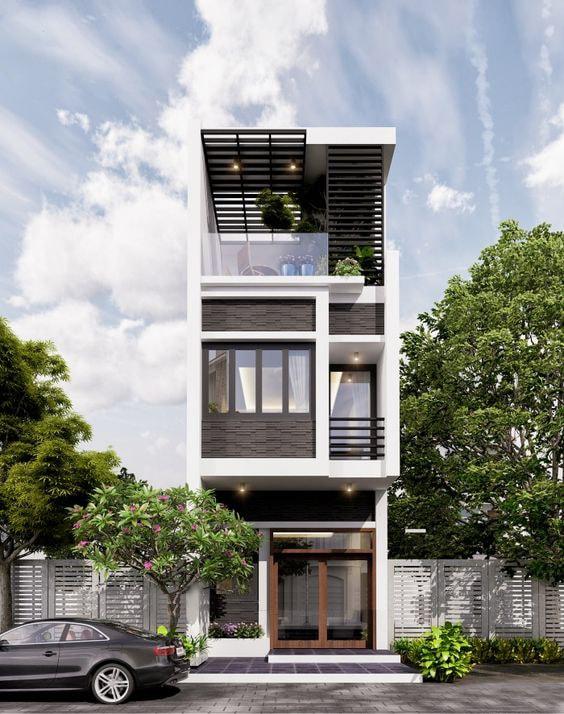 Với lối kiến trúc độc đáo này, ngôi nhà của gia đình bạn trông rất sang trọng, đậm chất quý tộc nhưng không hề nặng nề, rối rắm