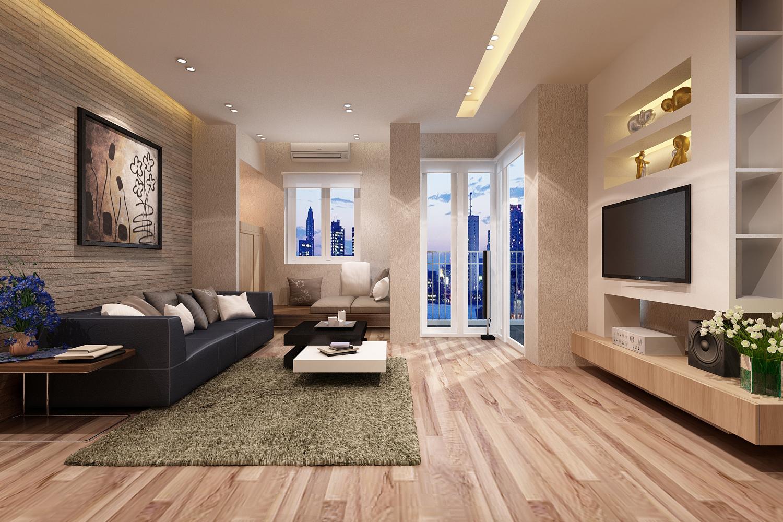 Gia chủ nên bày trí không gian phòng khách thật đơn giản nhưng thanh lịch với những vật dụng nhỏ gọn