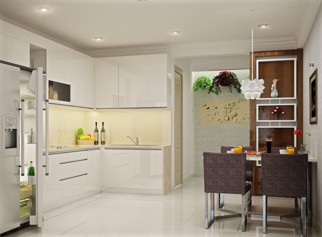 Gạch ốp tường bếp góp phần không nhỏ trong việc gia tăng giá trị thẩm mỹ của không gian phòng bếp
