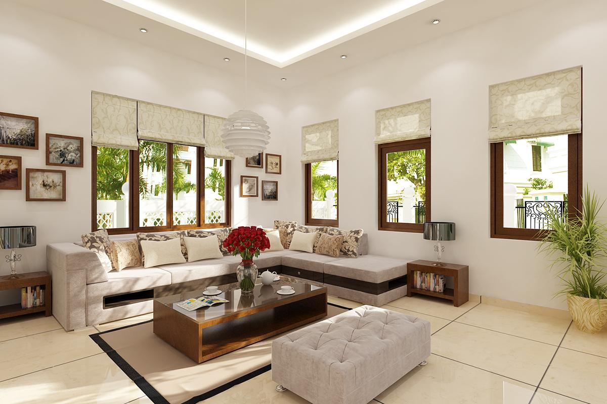 Những bức tranh đầy màu sắc sẽ mang đến niềm vui và sự sáng tạo cho việc sắp xếp không gian phòng khách nhỏ gọn