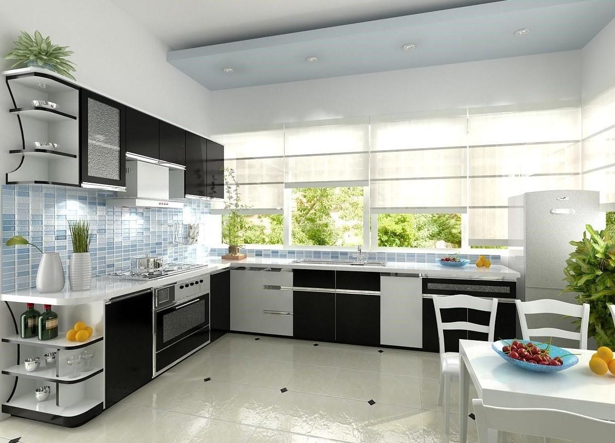 Đổi mới nền, trần, tường nhà là cách đổi mới, trang trí phòng bếp đẹp đơn giản