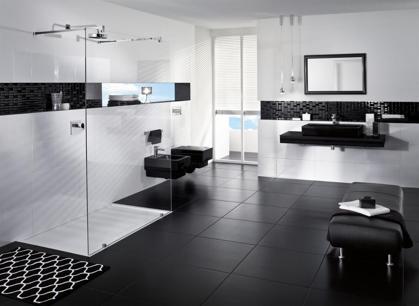 Gạch lát nền màu đen luôn mang lại nguồn cảm hứng sáng tạo bất tận cho các nhà thiết kế