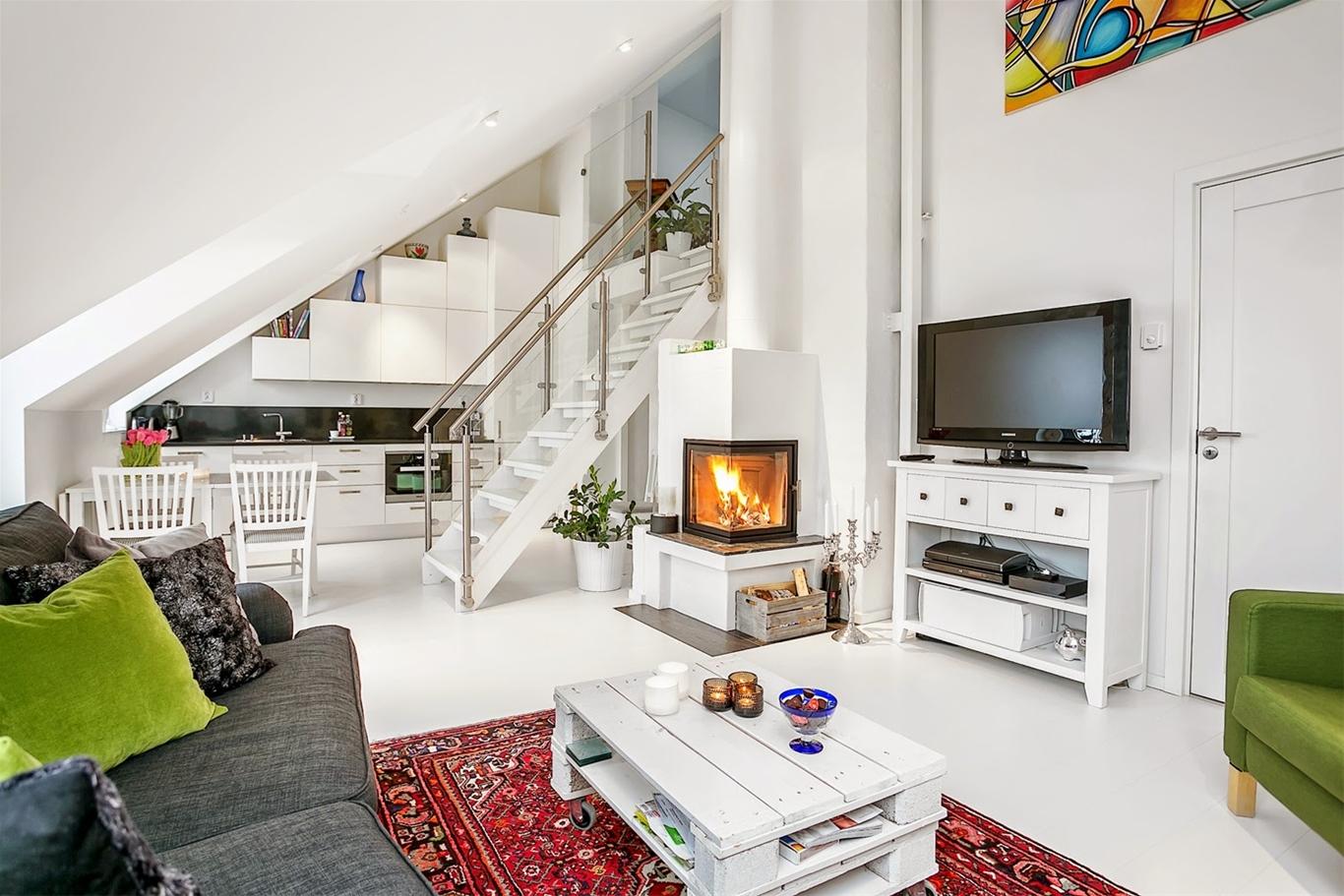 Phòng khách 18m2 thường được ứng dụng trong thiết kế nhà ống hoặc những ngôi nhà mái thái