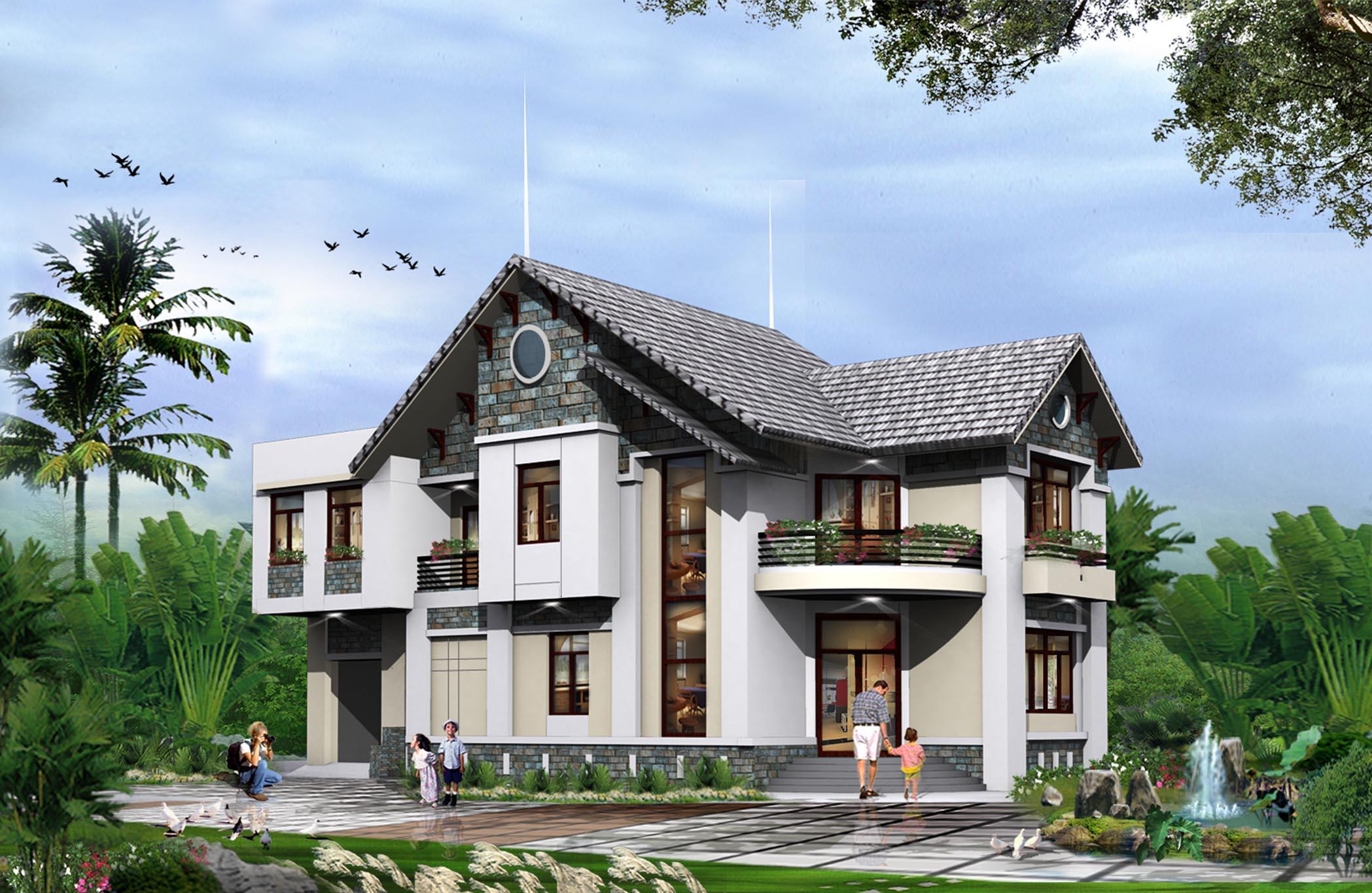 Nếu bạn sở hữu khu đất diện tích lớn, mặt bằng rộng rãi, bạn có thể thoải mái xây nhà 1 tầng, 2 tầng hoặc xây nhà 3 tầng tùy theo sở thích