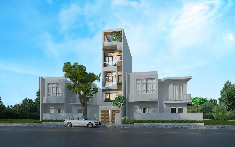 Với phong cách thiết kế không gian nhà đẹp này, gia chủ có thể chọn màu trắng làm gam màu chủ đạo cho ngôi nhà