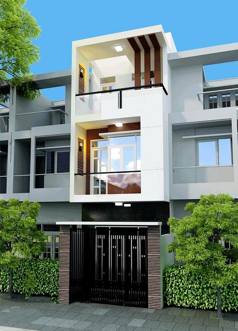 Sự kết hợp vật liệu xây dựng hài hòa khi hoàn thiện mặt tiền ngôi nhà đã tạo nên những điểm đặc sắc cho mái ấm gia đình bạn