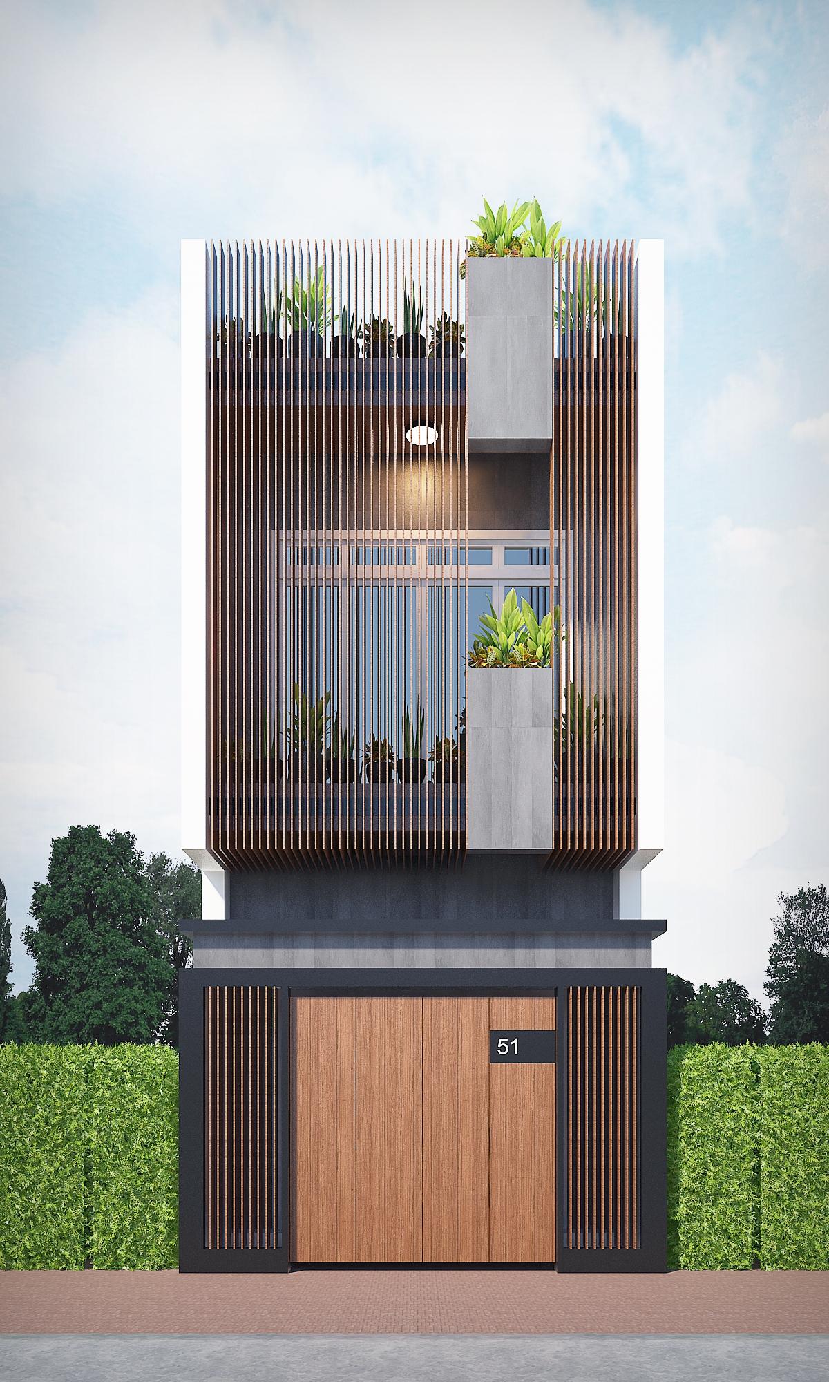 Ban công trồng nhiều cây xanh là cách tạo điểm nhấn được ưa chuộng trong thiết kế không gian đẹp