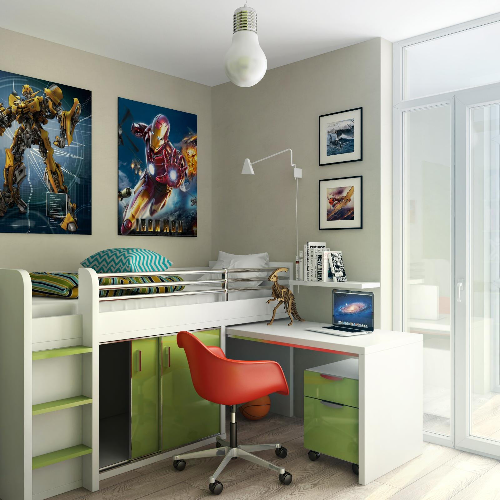Gia chủ có thể tận dụng không gian bên trên, góc tường để trang trí hoăc treo trên tường tủ đồ, kệ sách để tiết kiệm diện tích
