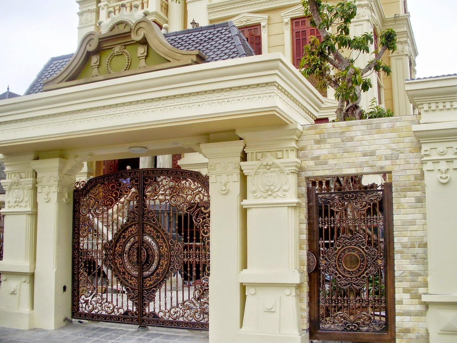 Thông thường, những chiếc cổng liền một khối sẽ đem đến cảm giác an toàn và chắc chắn