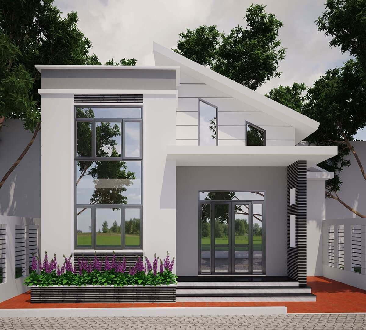 Theo kinh nghiệm xây nhà, thiết kế nhà 1 trệt 1 lầu được xem là kiến trúc nhà ở phổ biến hiện nay được nhiều gia đình trẻ ưa chuộng