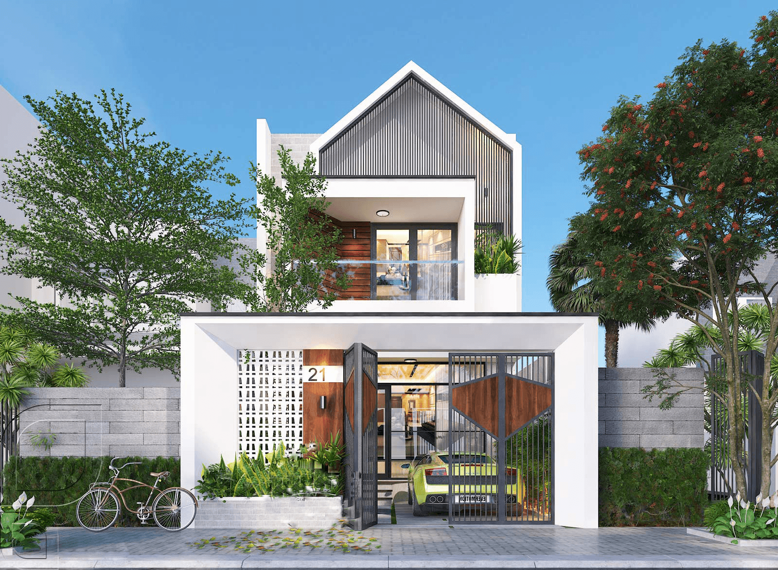 Ngôi nhà có thiết kế thi công đơn giản, phong cách hiện đại sẽ có mức giá khác so với những nhà 1 trệt 1 lầu phong cách cổ điển