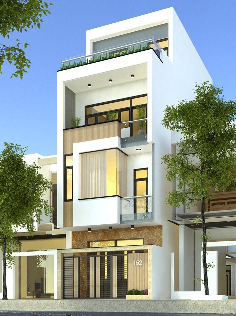 Chiếc cổng sắt kết hợp màu trắng sáng tinh tế của trụ nhà được nhiều gia chủ ưa chuộng trong thiết kế cổng nhà