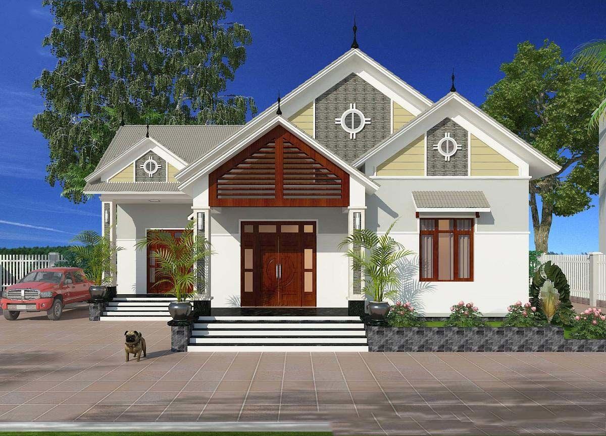 Gia chủ hoàn toàn có thể chọn lựa mẫu thiết kế nhà đẹp đơn giản được lợp bằng mái ngói hoặc mái tôn