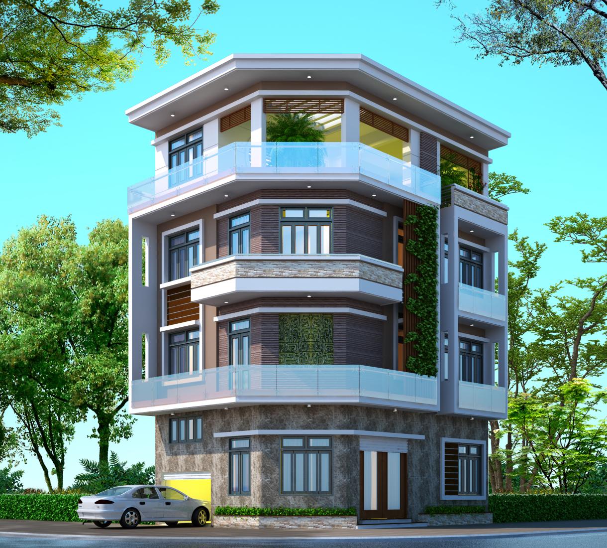 Ngôi nhà lô góc sẽ rất dễ lấy gió, ánh sáng hơn những ngôi nhà có 1 mặt tiền khác